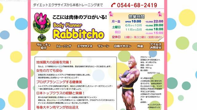 ボディプランナーラビッチョ(Rabbitcho)